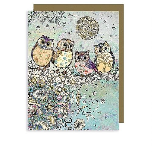 Bug Art Collection Four Owls Mini Gift Card